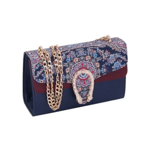 Side Designer Floral blue blue 1021 Bag 1021 3 7 turquoise 1021 esaurito Evening Turkish 1021 Bags Party Look Cream Shoulder Blue 5 Women 9 fx5Xq4w