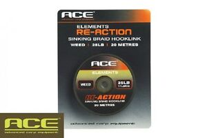 Ace-Re-Action-Braid-Carp-Fishing-Braided-Hooklink-SALE-All-Colours-amp-Sizes