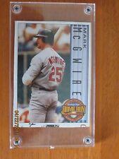 Mark McGwire #1 1998 Hamburger Helper Baseball Card