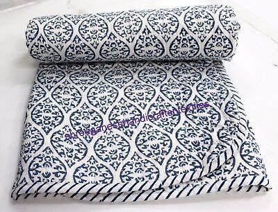 Hand Block Print quilt Kantha baby Quilt Baby Wrap baby Kanth Throw Blanket thro