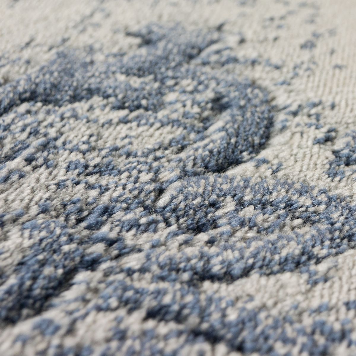 Tappeto Moderno Orientale Aspetto Vintage Inimitabile Motivo Orientale Moderno Design blu Jeans B d6d58e