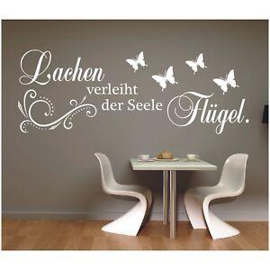 Wandtattoo-Spruch-Lachen-der-Seele-Fluegel-Wandsticker-Wandaufkleber-Sticker-6