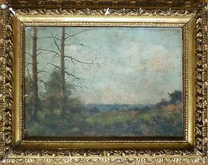 Paysage-peinture-de-Louis-CHEVALIER-19e-siecle-Barbizon-19th-century-painting