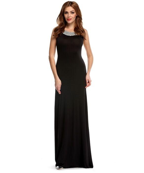 12f42012ccaa Vestitino abito donna donna donna lungo nero raffinato elegante comodo  morbido 3199 dd1915