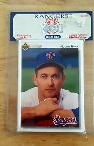 1992 Upper Deck Texas Rangers Team Set Factory Sealed Ryan Palmerio Gonzalez