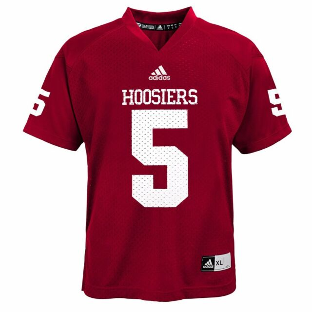 766ff811ed0 adidas Youth Indiana Hoosiers #5 Crimson Replica Football Jersey for ...