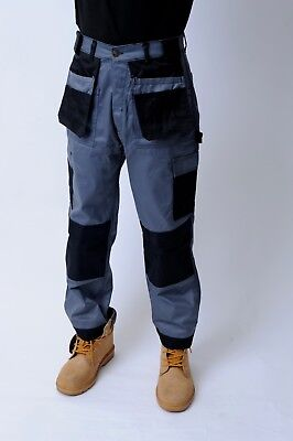 Heavy Duty Black Grey Combat Cargo Work Trouser In Extra Long And Short Lengths