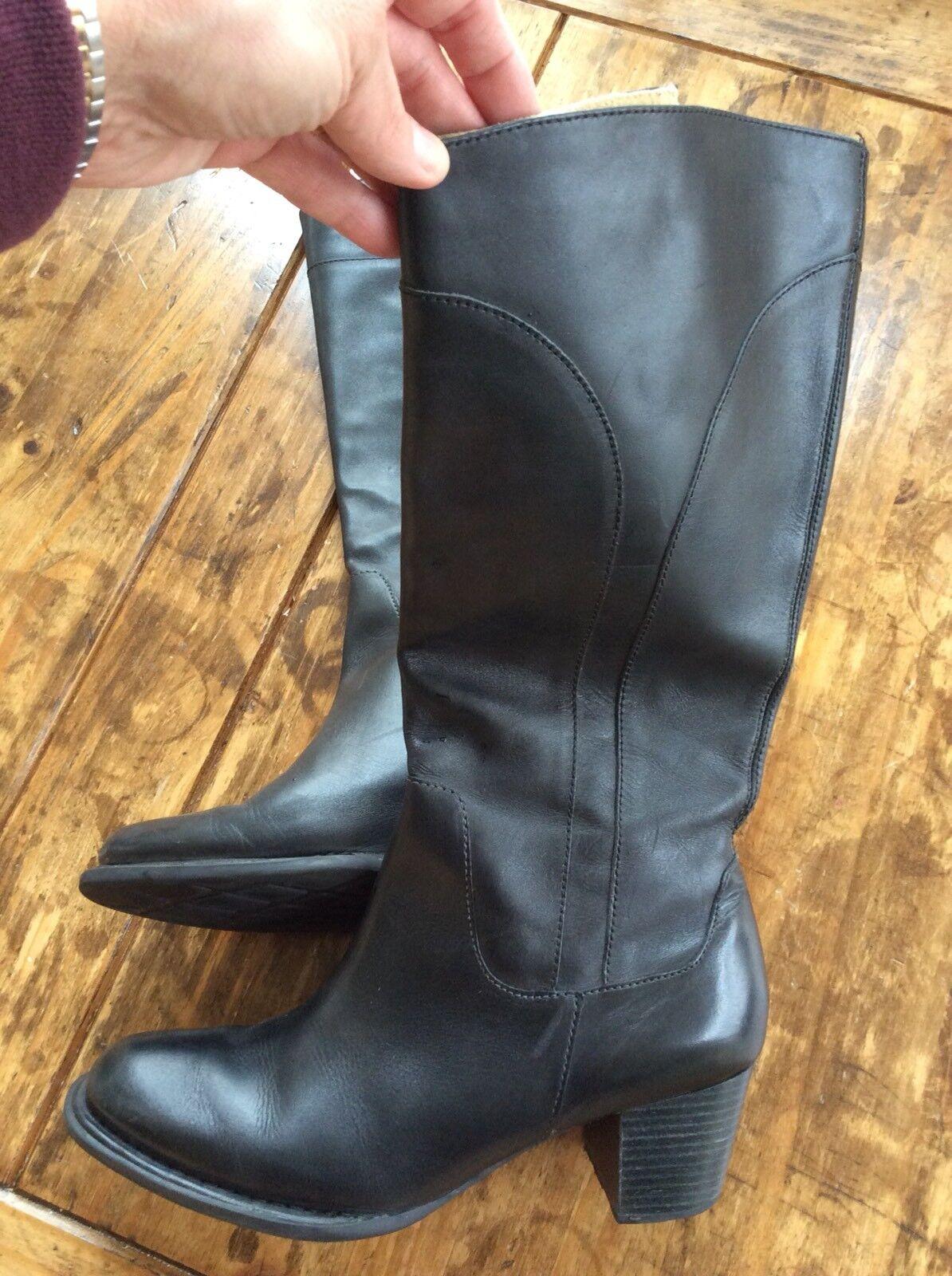 botas para mujer mujer mujer Talla 10 L.L. botas de cuero negro Bean  cómodamente