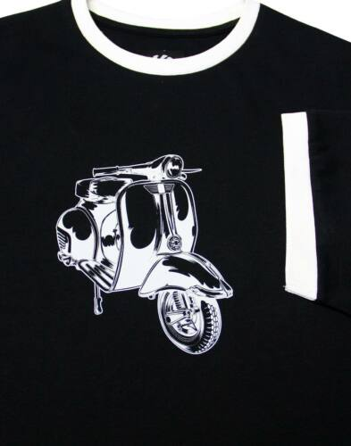 Soul amp; Mens Retro Black 2189 T Ss Scooter Cotton shirt Mod Ska fxCx5qEwF