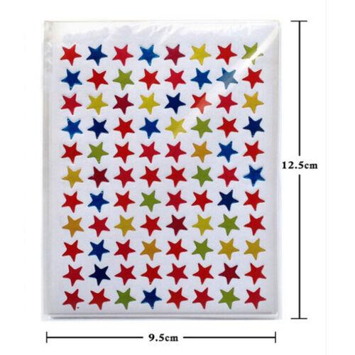 880Pcs Star Shape Stickers Labels For School Children Teacher Reward DIY MECA