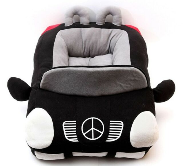 New Deluxe Cute Cozy Black Car Pet Beds Cover For Small-Medium Dog