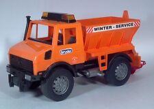 "Bruder Mercedes Benz Unimog Sand Salt Plow Truck Winter Service 16"" Scale Model"