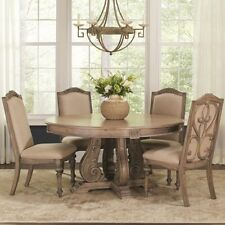 Coaster 122210 212 Ilana Traditional 5 Pc Round Dining Table And Side Chairs Set