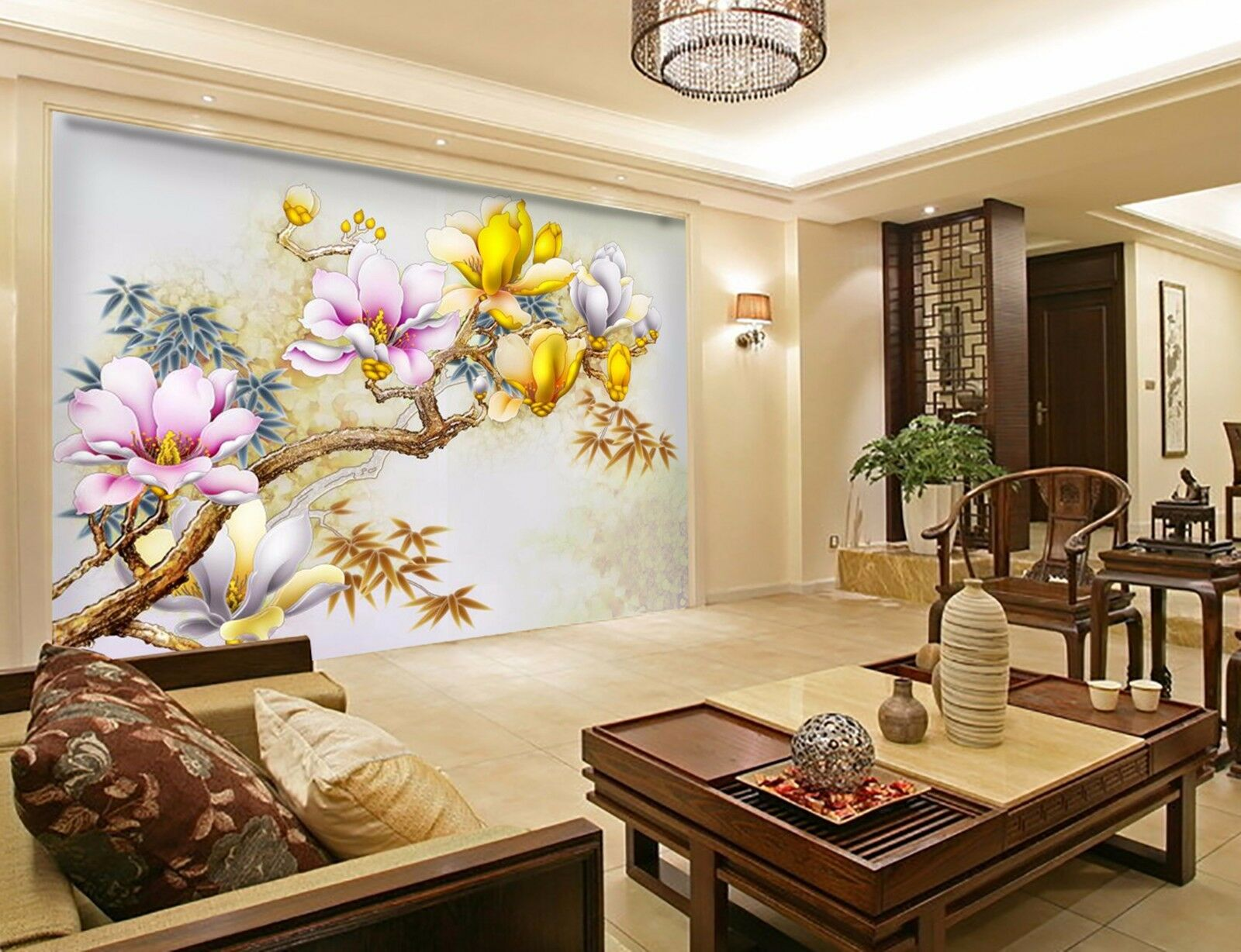 3D Peach branches 6877 Wall Paper Wall Print Decal Wall Indoor Murals Wall US