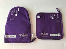 New! Le Creuset Oven Mitten Pot holder Set Glove Pot stand (Not Sold In Stores)
