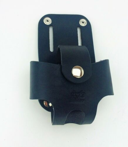 Leather Tape Measure Holster w// Snap HANDMADE IN AMERICA