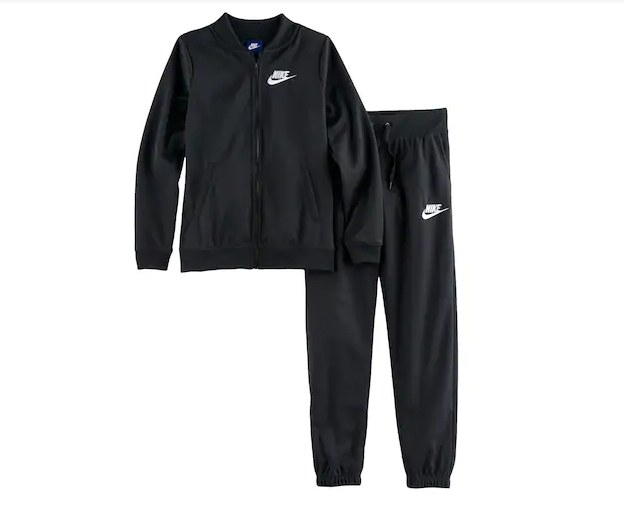 c64ca5ba89d Nike Gir'ls Tricot Jacket & Pants Track Suit Set Black MSRP $65 | eBay