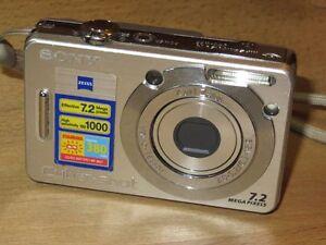 Sony Cyber-shot DSC-W55 7.2 MP - Digital Camara - Plateado