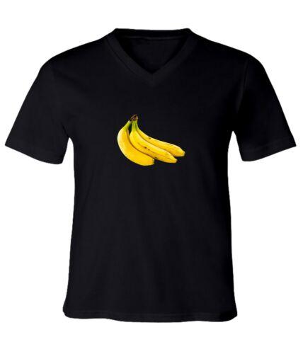 Banana Men Women Funny Unisex V-Neck Short Sleeve Top Tee T-Shirt