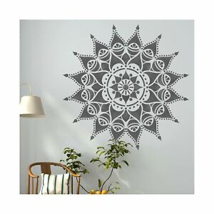 Nashik-Mandala-Indio-circular-Stencil-Muebles-De-Pared-stencil-Piso-Para-Pintura