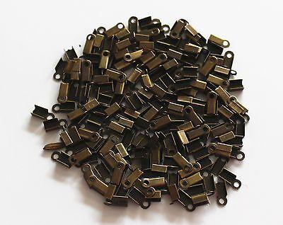 bulk small craft clasp crimp bead necklace bracelet end cord tip fold findings U
