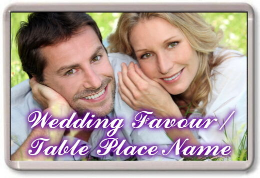 50x FRIDGE MAGNETS - WEDDING DAY FAVOURS   TABLE PLACE NAMES Personalised