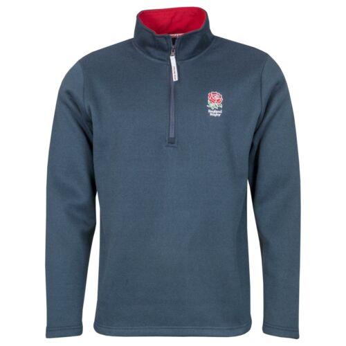 Official England RFU Rugby Kids Zip Neck Jersey KnitNavyNew 2020 Season
