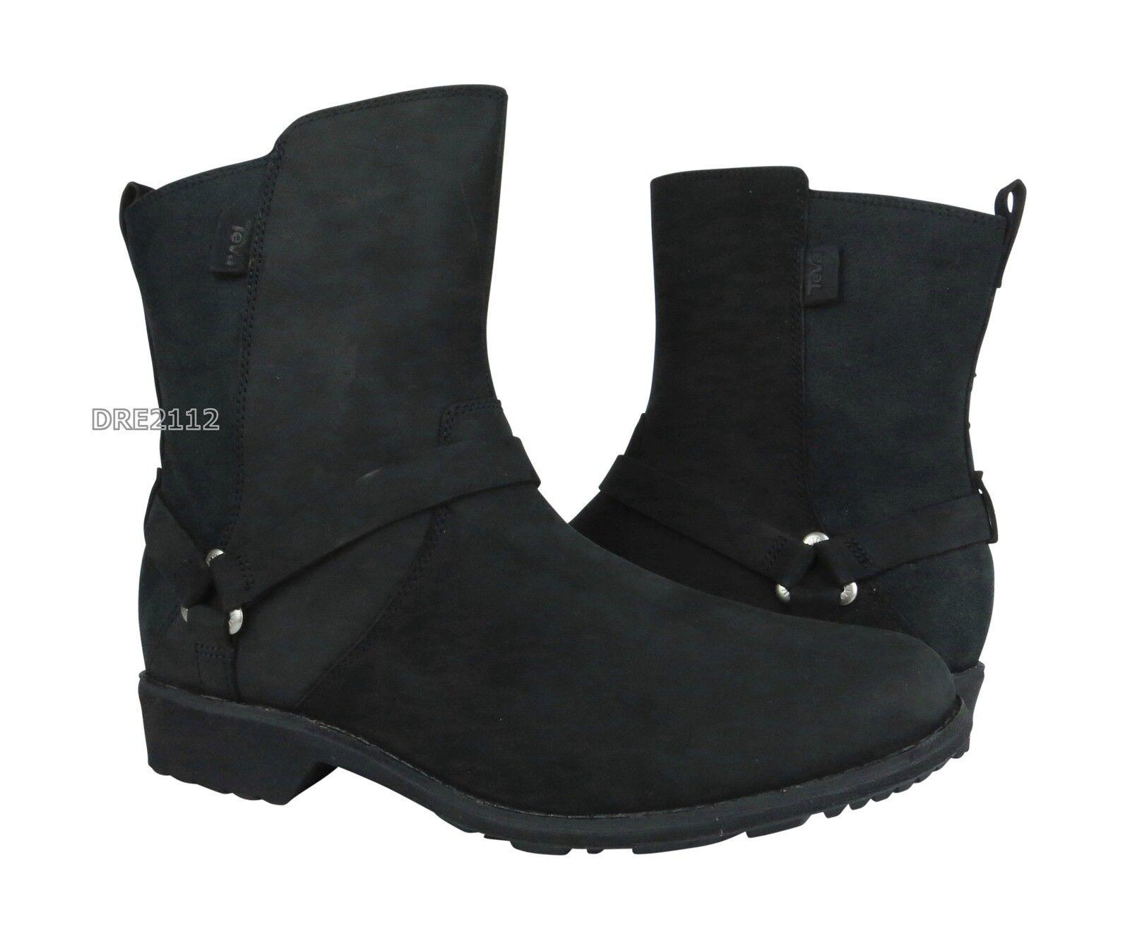risparmia fino al 30-50% di sconto Teva De La Vina Dos nero Delavina Delavina Delavina Leather stivali donna Dimensione 7.5 NIB  qualità garantita