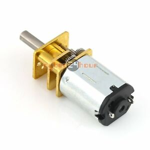DC6V 12V N20 Gear Motor Micro Geared Box Electric Motor with Metal Gearbox Wheel