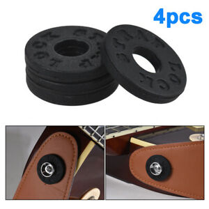 4pcs-set-Bass-Electric-Guitar-Parts-Tail-Nail-Buckle-Strap-Lock-Rubber-Material