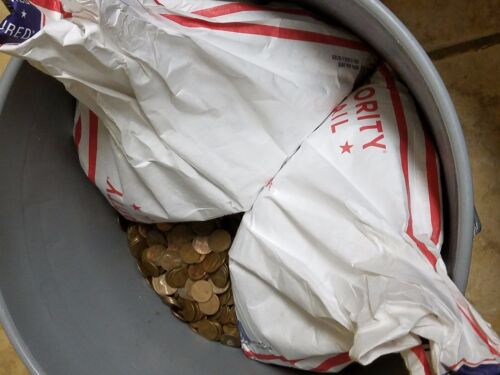 2 Bags (6,000) Circulated 95% Copper Pennies. 40LBS $60 Bullion Wheats & Keepers