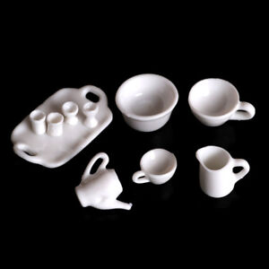 10pcs-Dollhouse-Miniature-Dining-Ware-Tea-Set-Dish-Cup-Plate-Z