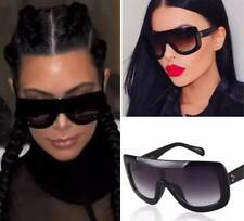 WOMENS  BLACK SUNGLASSES OVERSIZE KIM TOWIE MARBS IBIZA NEW !! * FREE CASE M
