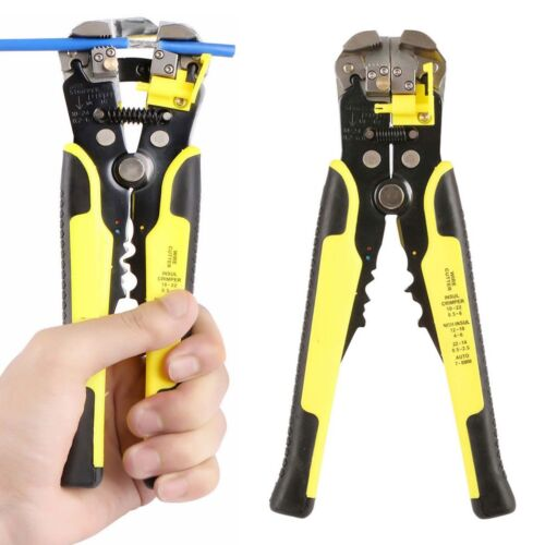 3in1 8/'/' Self Adjusting Wire Cable Stripper Cutter Stripping Tool Terminal Plier