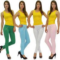 L14 Damen Hüfthose Treggings Röhre Stretch Hose Jeggings Leggings
