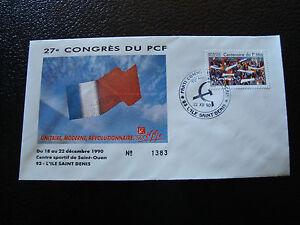 FRANCE-enveloppe-21-12-1990-27e-congres-du-PCF-cy7-french-e