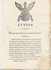 I865-SICILIA-PALERMO SULLE MACELLAZIONI 1814