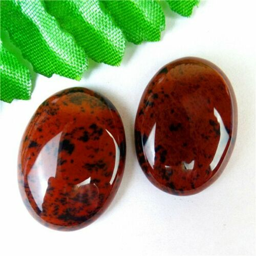 Natural Brown Red/&Black Mahogany Obsidian Oval Cab Cabochon 25x18x7mm HH6421