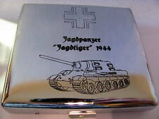 "Zigaretten Etui Wehrmacht - Jagdpanzer ""JAGDTIGER"", inclusive Namens Gravur !!!"