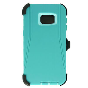 new product 999d5 e11db Details about For Samsung Galaxy S6 Edge+Plus W/Clip fit Otterbox Defender  Case Teal