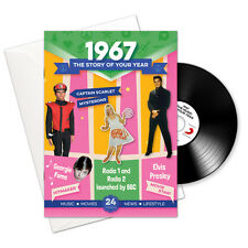 1967 50th Birthday Anniversary Gift Card 4-In-1 Retro Gifts Cards Brit Pop CD