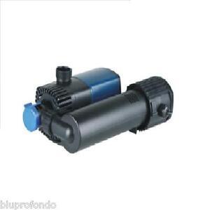 Fish & Aquariums Audacious Pompa Acquario Acquari Laghetto Eco 2800 Lt/h Jtp 2800 18w Con Lampada Uvc 9w Pumps (water)