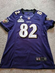 Nike On Field Baltimore Ravens #82 SMITH Superbowl Women's L