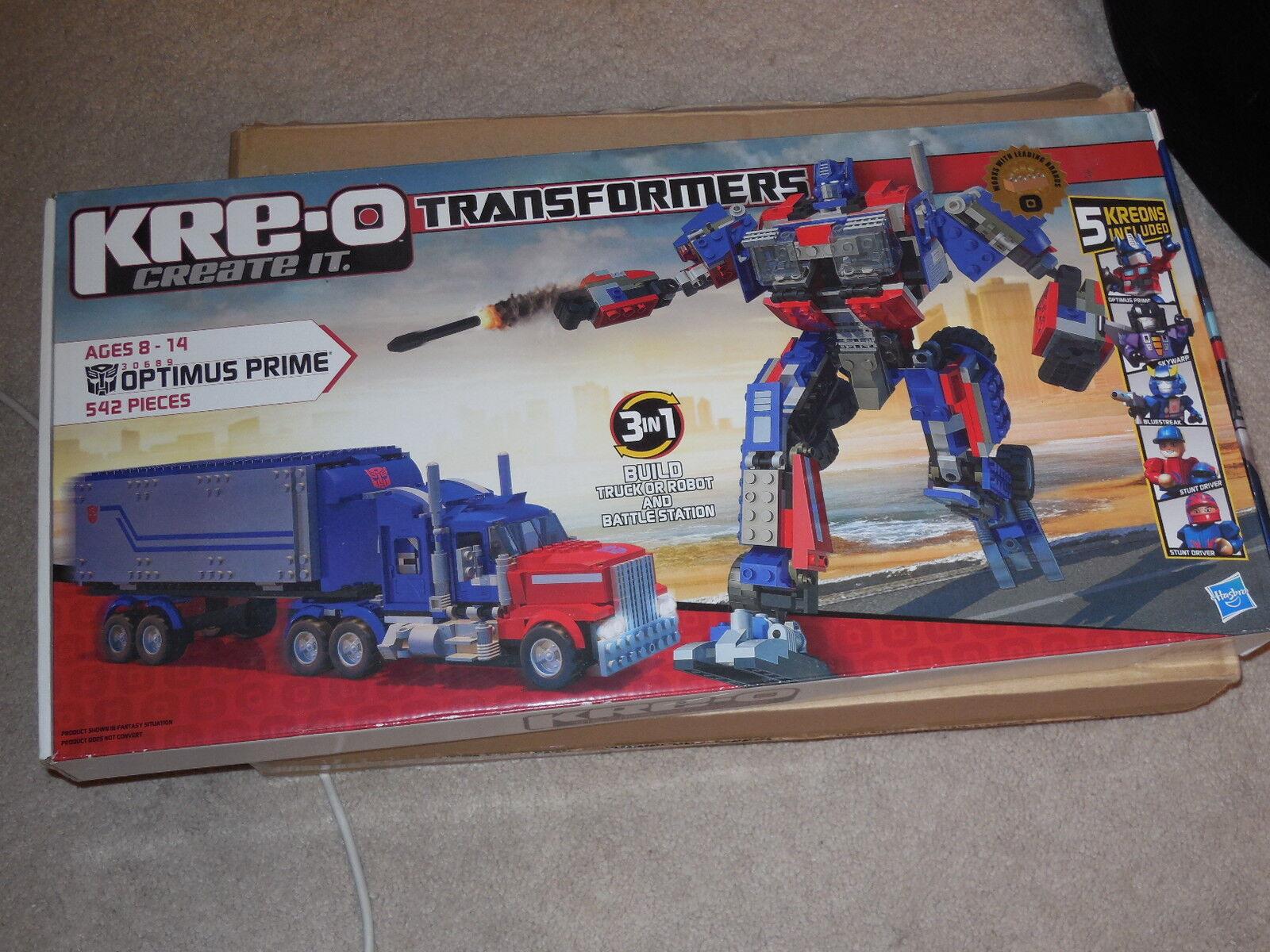 Transformers kre-o optimus prime 542 pieces brand new never opened fast ship NIB