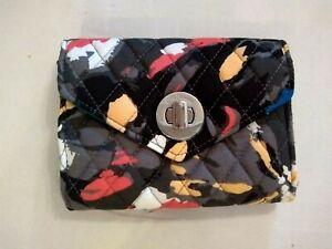 NWT-Vera-Bradley-Your-Turn-Smartphone-Wristlet-in-Splash-Floral-Black-Blue-Red