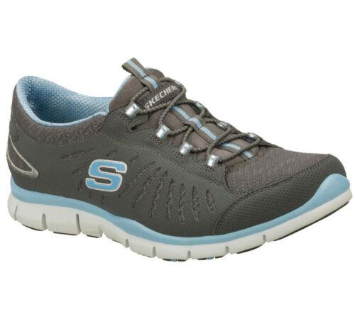 en mouvement Skechers Gratis Women Trainers Charbon bois de Sportshoes Sneakers rvzcWZz