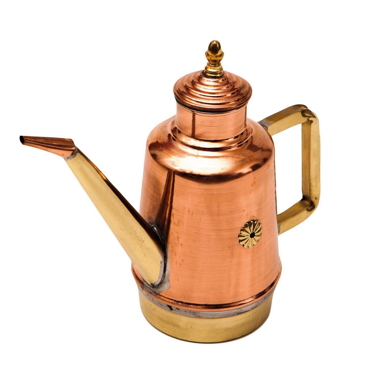 GI. en métal fait main en cuivre, laiton et étain huile Salière Poivrière