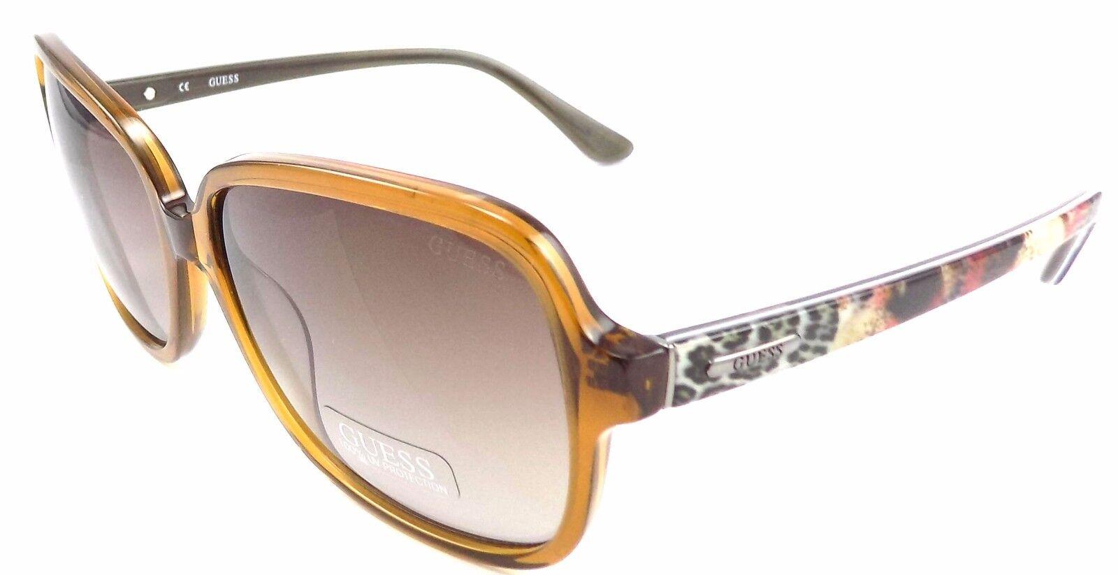 GUESS GU7382 45F Women's Sunglasses 60-16-135 Shiny Light Brown / Brown Gradient