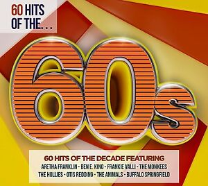 60 HITS OF THE 60s (Best Of / Greatest Hits) 3 CD SET (2016) 190295899899