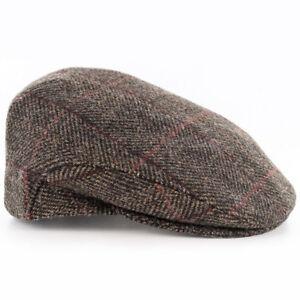 0491a41cca9 Image is loading Brown-Wool-Flat-Cap-Mucros-Weavers-Wool-Tweed-